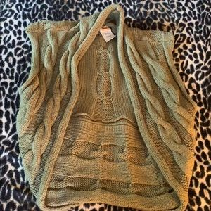 Faded Glory Cable Knit Sweater shrug vest